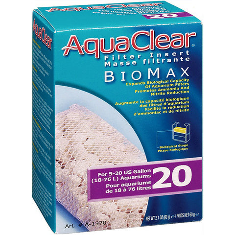 BioMax Ceramic Media Biological Filter Insert for AquaClear 20 Power Filter
