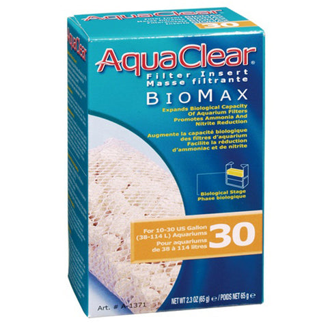 BioMax Ceramic Media Biological Filter Insert for AquaClear 30 Power Filter