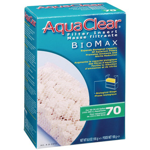 BioMax Ceramic Media Biological Filter Insert for AquaClear 70 Power Filter