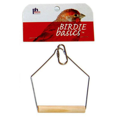 Birdie Basics Hanging Wood Bird Swing