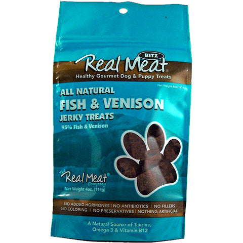 Jerky Bitz 95% Fish & Venison Grain-Free Soft Dog Treats