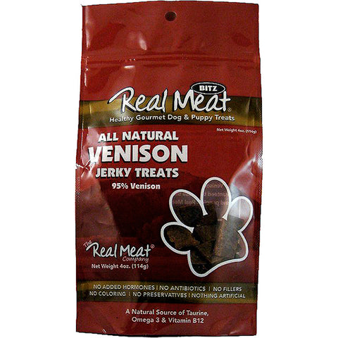 Jerky Bitz 95% Venison Grain-Free Soft Dog Treats