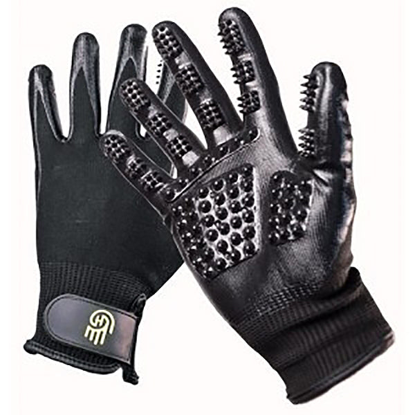 HandsOn Grooming Gloves for Large Hands Black