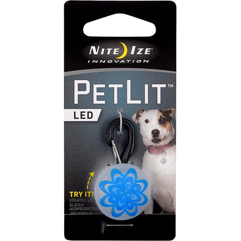PetLit LED Collar Attachment Blue Burst