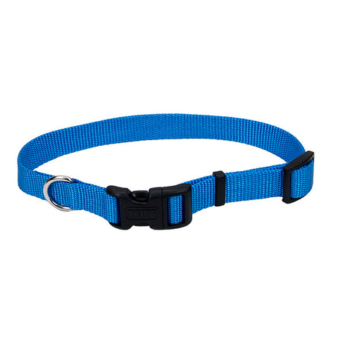 Adjustable Nylon Collar with Tuff Buckle Blue Lagoon
