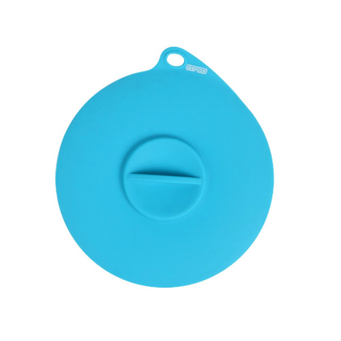 Flexible Silicone Suction Can Lid Blue