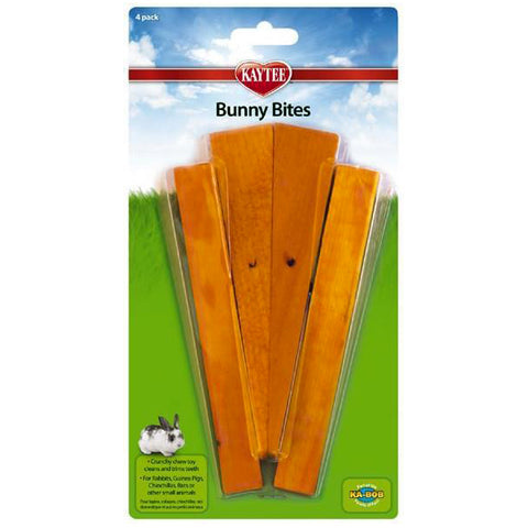 Bunny Bites Natural Wood Carrot Small Animal Chew Toy