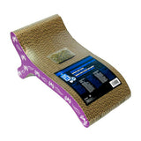 Catit Chaise Corrugated Cardboard Scratcher with Catnip Purple
