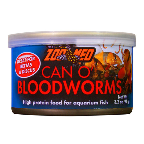 Can O' Bloodworms High Protein Canned Aquarium Fish Food
