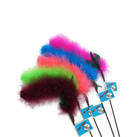 Cat Tail Feather Wand Cat Toy