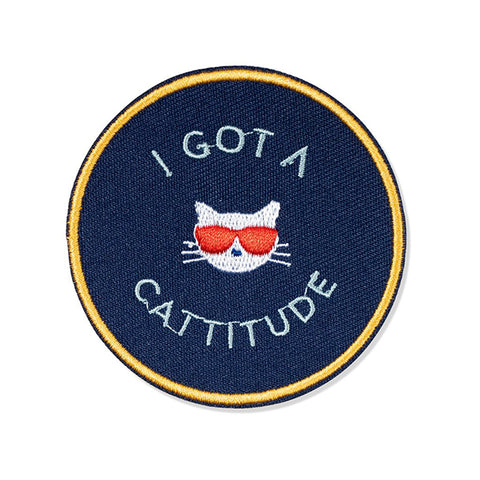 "PetShop ""I've Got A Cattitude"" Embroidered Adhesive Patch"