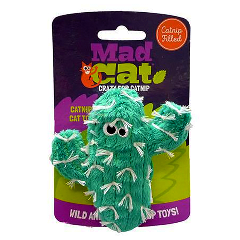Mad Cat Catty Cactus Catnip & Silvervine Plush Cat Toy