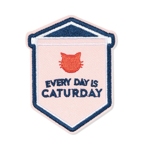 "PetShop ""Every Day Is Caturday"" Embroidered Adhesive Patch"