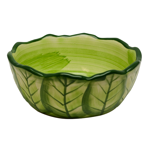 Ceramic Vegetable Pattern Small Animal Dish Green Cabbage