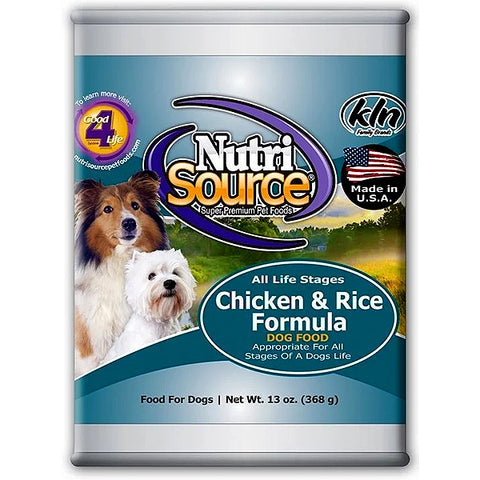 Chicken & Rice Formula Wet Canned Dog Food