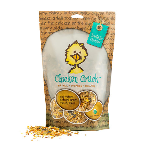 Chicken Crack Organic Seed, Grain, Shrimp & Mealworm Poultry Treat