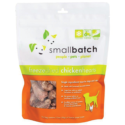 Freeze-Dried Chicken Hearts Single Ingredient Dog Treats