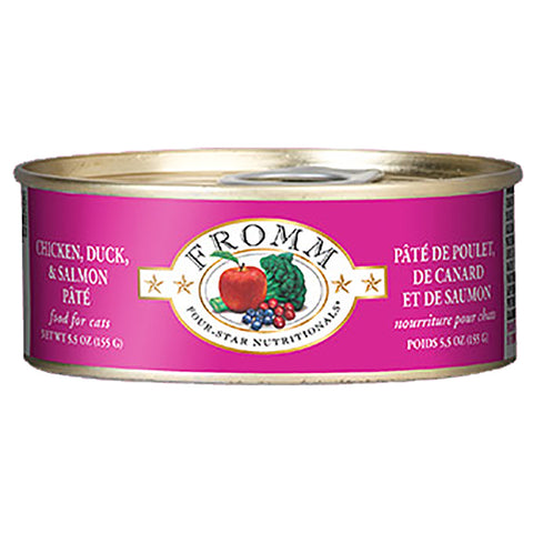 Chicken, Duck & Salmon Pate Grain-Free Wet Canned Cat Food