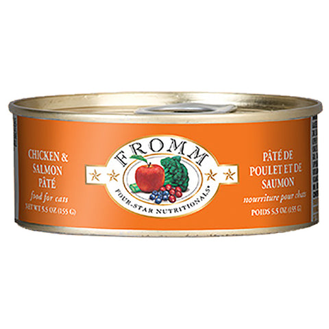 Chicken & Salmon Pate Grain-Free Wet Canned Cat Food