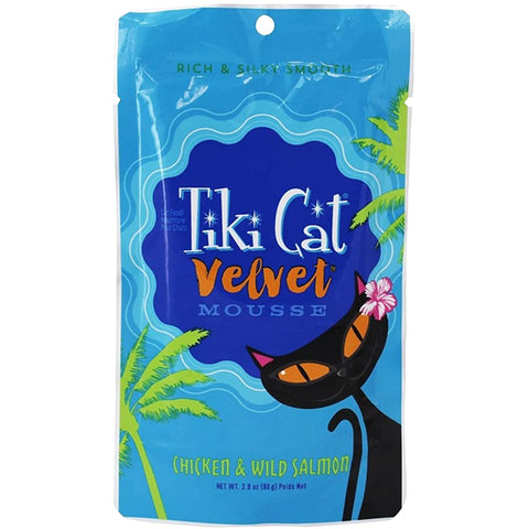 Velvet Mousse Chicken & Wild Caught Salmon in Broth Grain-Free Wet Pouch Cat Food
