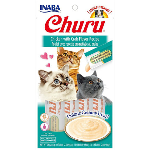 Churu Chicken with Crab Puree Lickable Cat Treat
