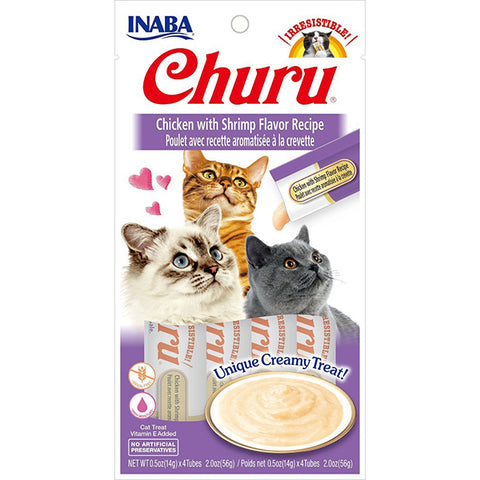 Churu Chicken with Shrimp Puree Lickable Cat Treat