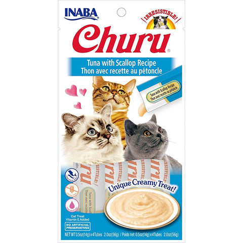 Churu Tuna with Scallop Puree Lickable Cat Treat