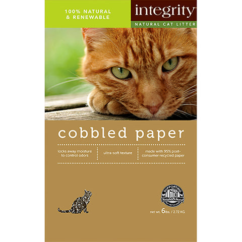 Cobbled Paper Recycled Biodegradable Clumping Cat Litter