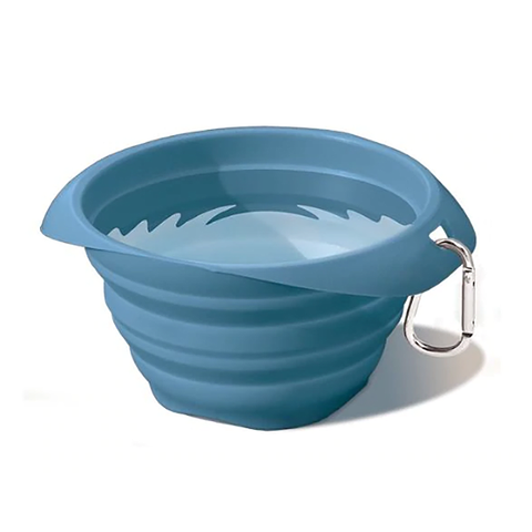 Collaps A Bowl Silicone Travel Dog Bowl Blue