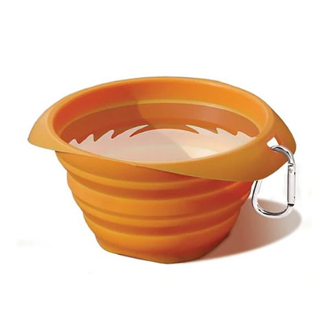 Collaps A Bowl Silicone Travel Dog Bowl Orange