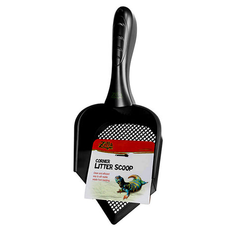 Corner Litter Scoop Plastic Terrarium Maintenance Tool Black