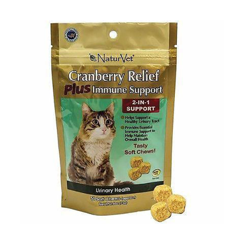 Cranberry Relief Urinary Health Plus Immune Support Cat Soft Chews
