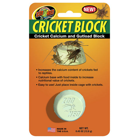 Cricket Block Calcium & Gutload Feeding Block for Crickets