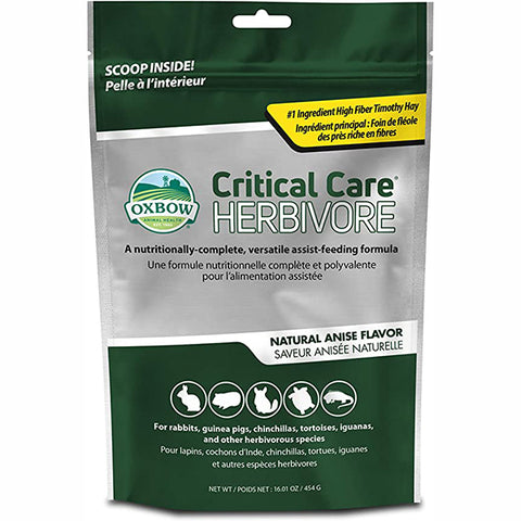 Critical Care Recovery Anise Flavor Small Animal Herbivore Food