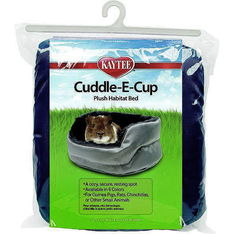 Super Sleeper Cuddle-E-Cup Fuzzy Polyester Plush Small Animal Bed