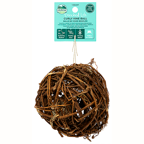 Enriched Life Curly Vine Ball Wood Small Animal Toy