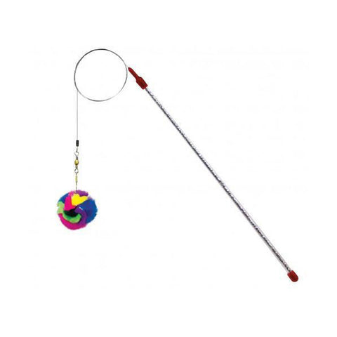 Da Ball Multicolor Crinkle Wand Cat Toy