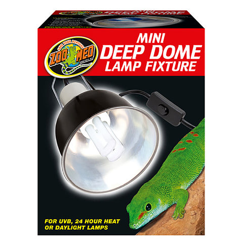 Deep Dome Lamp Fixture with On/Off Switch Aluminium & Ceramic Black