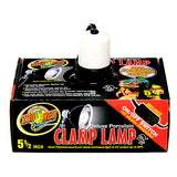 Deluxe Porcelain & Aluminium Clamp Lamp Fixture with On/Off Switch Black