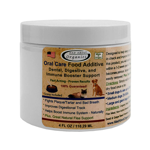 Organic Oral Care Powdered Pet Food Additive