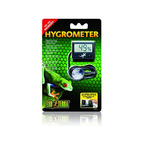Digital Hygrometer Humidity Monitoring System with Remote Sensor for Terrariums