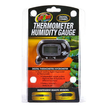 Dual Digital Thermometer & Hygrometer Gauge Reptile Temperature & Humidity Monitoring