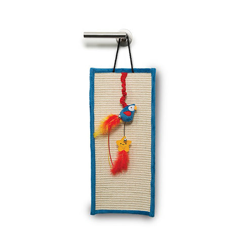 Play Pirates Door Hanger Scratcher with Catnip Parrot and Star