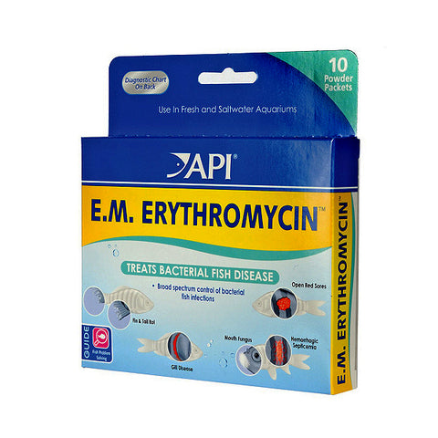 E.M. Erythromycin Aquarium Bacterial Fish Disease Treatment Powder