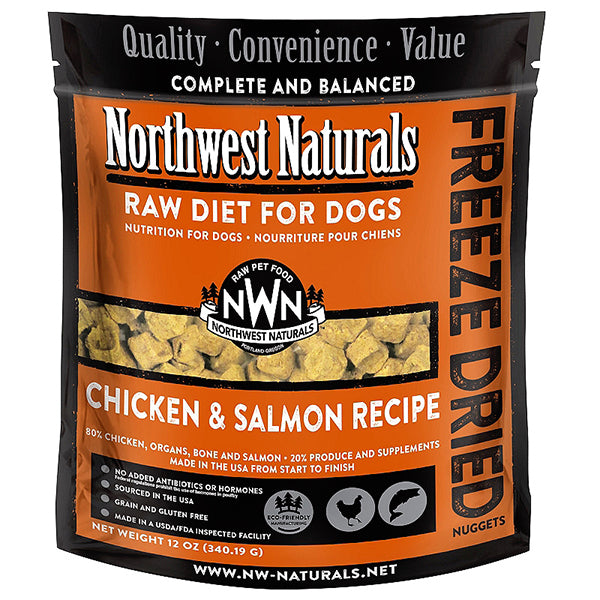 Nuggets Chicken & Salmon Formula Freeze-Dried Raw Dog Food