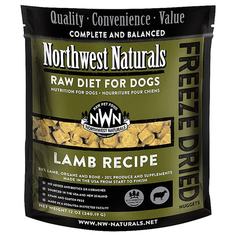 Nuggets Lamb Formula Freeze-Dried Raw Dog Food