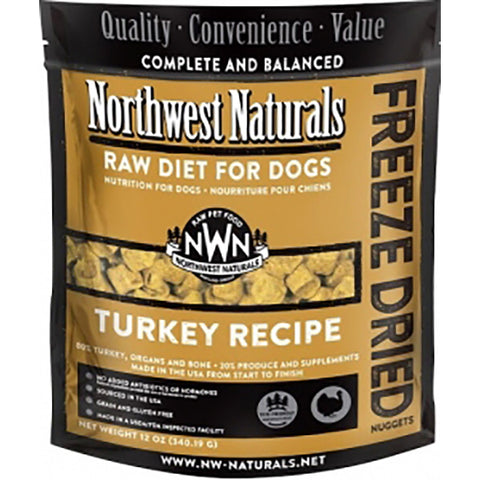 Nuggets Turkey Formula Freeze-Dried Raw Dog Food