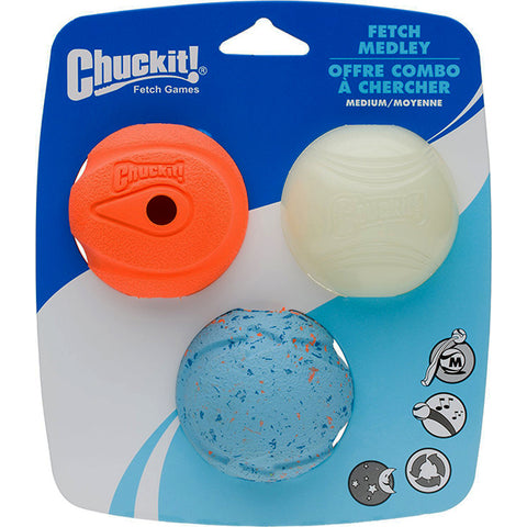 Fetch Medley Assorted Balls Dog Toy