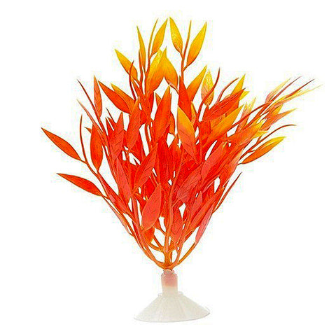 Plastic Betta Plant Firegrass Orange Aquarium Decor Ornament