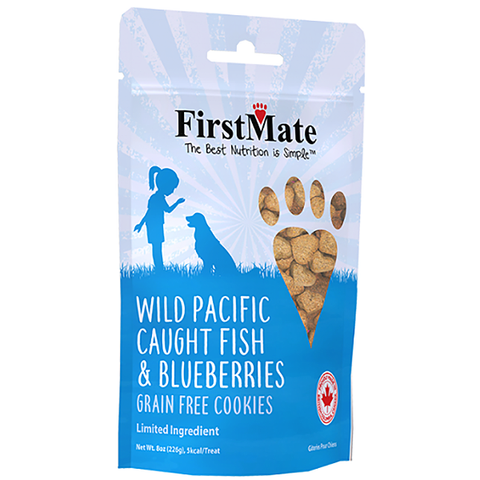 Wild Pacific Caught Fish & Blueberries LID Grain-Free Crunchy Dog Treats
